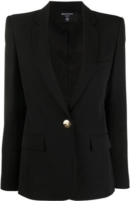 Balmain Single-Breasted Structured Blazer