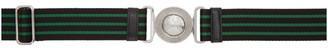 Prada Black and Green Buckle Belt