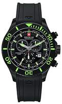 Swiss Military Men's Quartz Watch with Black Dial Chronograph Display and Black Silicone Strap 6-4226.13.007