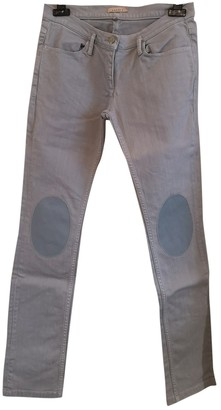 Sandro Grey Cotton Jeans for Women