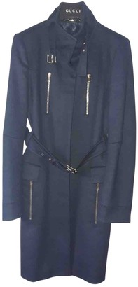 Gucci Blue Wool Coat for Women