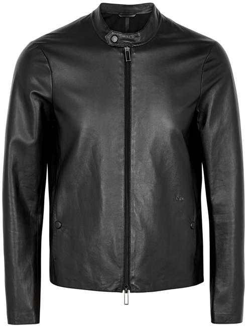 Emporio Armani Black Leather Jacket
