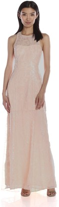 BCBGeneration Women's Sequin Blush Halter Neckline Dress 4