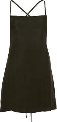 Anémone Tie-Back Washed-Georgette Mini Dress