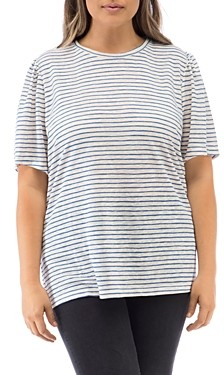 Baobab Collection Tilda Striped Puff-Sleeve T-Shirt