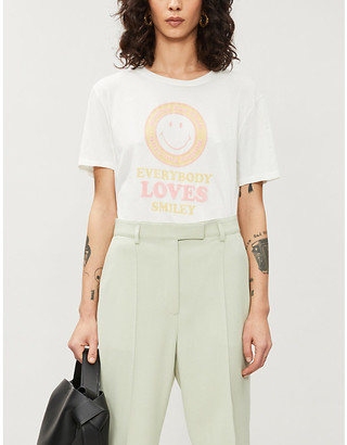 Sandro Smile cotton-jersey T-shirt