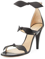 Chloé Naka Bow 100mm Sandal, Black