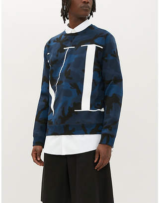 Valentino Graphic logo-print camouflage cotton-blend sweatshirt