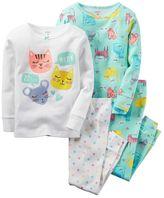 Carter's Girls 4-14 4-pc. Print Pajama Set