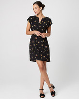 Le Château Floral Print Crepe de Chine Tunic Dress