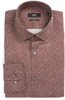 BOSS Men's Jenno Slim Fit Print Dress Shirt
