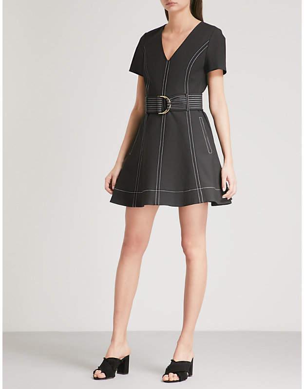 Diane von Furstenberg Belted stretch-denim mini dress