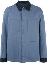 Gieves & Hawkes contrast shirt jacket