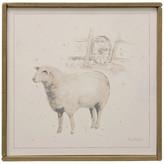 Stylecraft Sheep 2 Farm Animal Art, Canvas Print with Handpainting