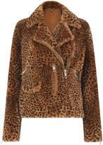 Whistles Leopard Shearling Agnes Biker