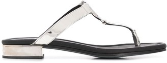 Balmain B plaque thong sandals