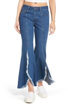 Sjyp Women's Frayed Flare Jeans
