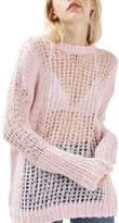 Topshop Openwork Sweater