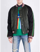 Gucci Ufo-embroidered Satin Bomber Jacket