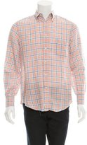 Brunello Cucinelli Linen Plaid Shirt