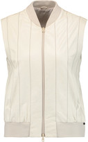 Brunello Cucinelli Bead-embellished leather vest