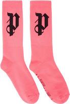 Palm Angels Pink pa Monogram Socks