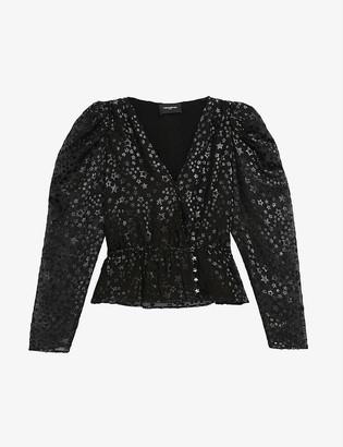 The Kooples Star-print woven top