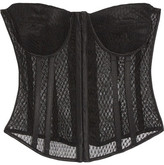 Tom Ford Silk Satin-trimmed Mesh Corset - IT40