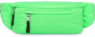 Prada neon green technical fabric belt bag