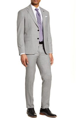 Ted Baker Robbie Trim Fit Check Wool Suit