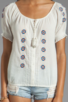 Joie Dolina Embroidery Top