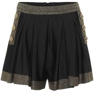 Balmain Embellished knit shorts