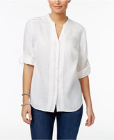 Charter Club Petite Pintucked Shirt, Only at Macy's