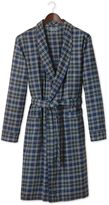 Navy Check Cotton Robe Size Large By Charles Tyrwhitt