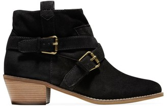 Cole Haan Jensynn Buckle Suede Ankle Boots