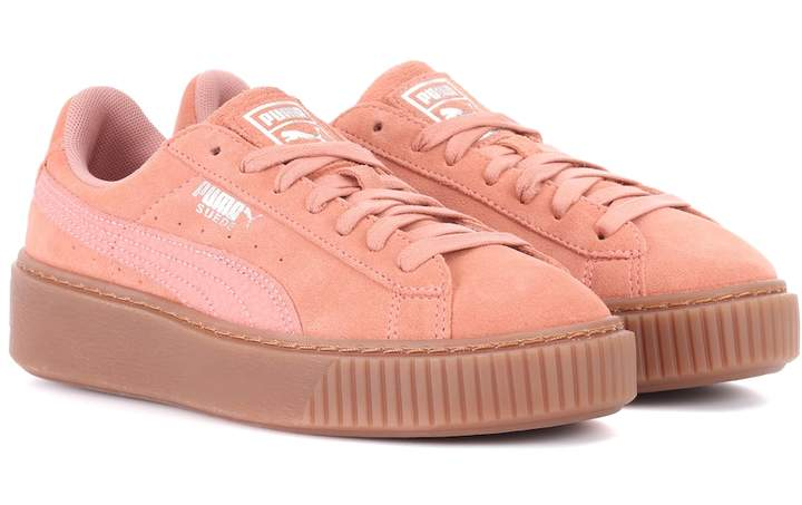 100% authentic b0eb1 9d7ce Basket Platform suede sneakers