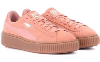 Puma Basket Platform suede sneakers