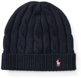 Ralph Lauren 7-16 Slouchy Cable-Knit Cotton Hat