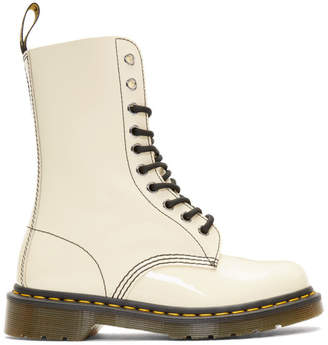 Marc Jacobs Beige Redux Grunge Patent 1490 Boots