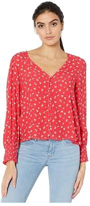 Sanctuary Harmony Top (Wildflower Red) Women's Clothing