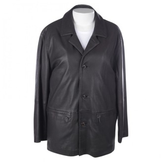 Burberry Grey Leather Jacket for Women