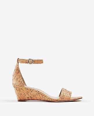 Ann Taylor Giuliana Cork Wedge Sandals