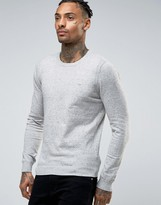 Diesel Crew Knit Sweater K-Maniky Slim Fit in Light Gray