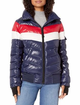 S13 Women's Retro Stripe Bomber Jacket