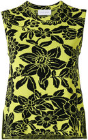 Christian Wijnants sleeveless floral top - women - Cotton/Polyamide/Viscose - S