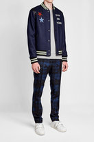 Valentino Wool Varsity Jacket with Leather