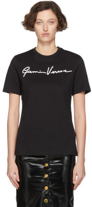 Versace Black Gianni Embroidered T-Shirt