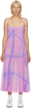 Collina Strada SSENSE Exclusive Pink Hand-Dyed Market Dress