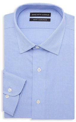 Saks Fifth Avenue Slim-Fit Dotted Dress Shirt