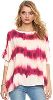 Juicy Couture Women's Cold-Shoulder Poncho Top